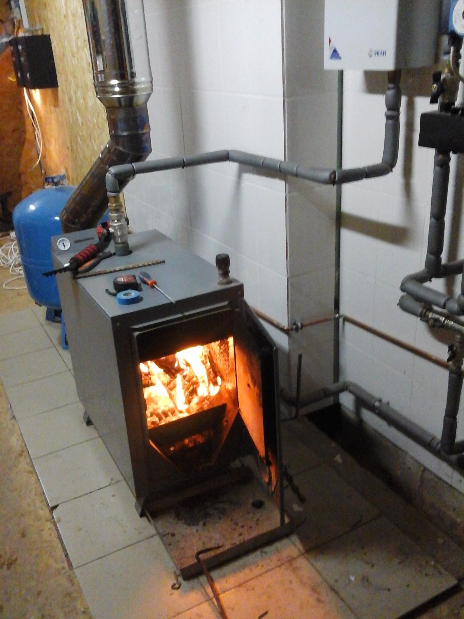 Отопление для твердого топлива своими руками
