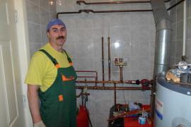 Установка котельной отопления
