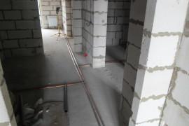 Трассировка труб в коридоре